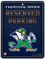 Notre Dame Fighting Irish Metal Parking Sign