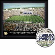 Notre Dame Fighting Irish Personalized Framed Stadium Print