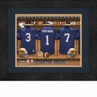 Notre Dame Fighting Irish Personalized Locker Room 13 x 16 Framed Photograph