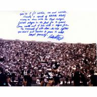 "Notre Dame Fighting Irish Rudy Ruettiger Carried off the Field w/ ""Long 5 Foot Nothing"" Signed 16"" x 20"" Photo"