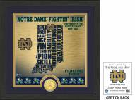 Notre Dame Fighting Irish State Bronze Coin Photo Mint