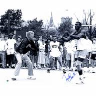"Notre Dame Fighting Irish Tim Brown Playing Basketball With Lou Holtz Signed 16"" x 20"" Photo"
