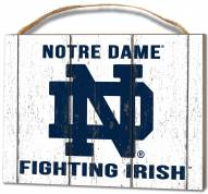 Notre Dame Fighting Irish Weathered Logo Small Plaque