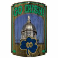 Notre Dame Fighting Irish Wood Sign