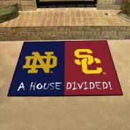 Notre Dame/USC Trojans House Divided Mat