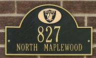 Oakland Raiders NFL Personalized Address Plaque - Black Gold