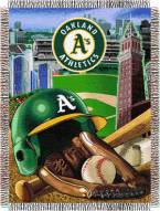Oakland Atheltic A's MLB Woven Tapestry Throw Blanket