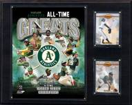 "Oakland Athletics 12"" x 15"" All-Time Greats Photo Plaque"