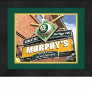 Oakland Athletics 13 x 16 Personalized Framed Sports Pub Print