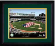 Oakland Athletics 13 x 16 Personalized Framed Stadium Print