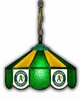 "Oakland Athletics 14"" Glass Pub Lamp"