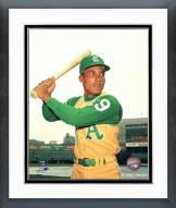 Oakland Athletics Bert Campaneris Posed with Bat Framed Photo