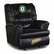 Oakland Athletics Big Daddy Leather Recliner