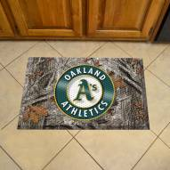Oakland Athletics Camo Scraper Door Mat