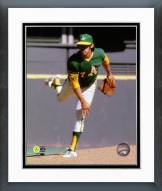 Oakland Athletics Catfish Hunter 1972 World Series Action Framed Photo