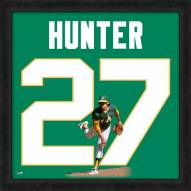 Oakland Athletics Catfish Hunter Uniframe Framed Jersey Photo