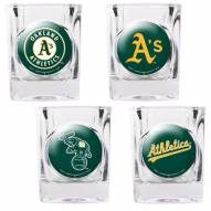 Oakland Athletics Collector's Shot Glass Set