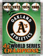 Oakland Athletics Commemorative Throw Blanket