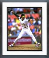 Oakland Athletics Dennis Eckersley 1992 Action Framed Photo