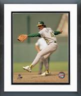 Oakland Athletics Dennis Eckersley Pitching Action Framed Photo