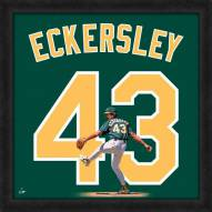 Oakland Athletics Dennis Eckersley Uniframe Framed Jersey Photo