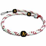 Oakland Athletics Frozen Rope Baseball Necklace