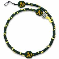 Oakland Athletics Frozen Rope Color Baseball Necklace