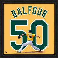 Oakland Athletics Grant Balfour Uniframe Framed Jersey Photo
