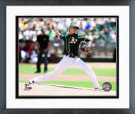 Oakland Athletics Jesse Chavez 2014 Action Framed Photo