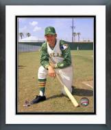 Oakland Athletics Joe Rudi Posed with Bat Framed Photo