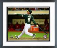 Oakland Athletics John Jaso 2014 Action Framed Photo
