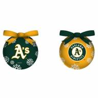 Oakland Athletics LED Boxed Ornament Set