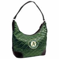 Oakland Athletics Quilted Hobo Handbag