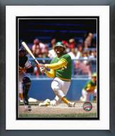 Oakland Athletics Reggie Jackson Swinging Framed Photo