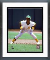 Oakland Athletics Rickey Henderson 1981 Action Framed Photo