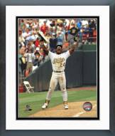Oakland Athletics Rickey Henderson 939 Stolen Bases Framed Photo