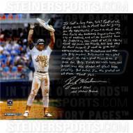 """Oakland Athletics Rickey Henderson Story Signed 16"""" x 20"""" Photo"""