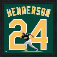 Oakland Athletics Rickey Henderson Uniframe Framed Jersey Photo