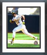 Oakland Athletics Ricky Henderson Action Framed Photo