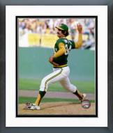 Oakland Athletics Rollie Fingers Pitching Framed Photo