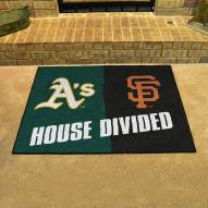 Oakland Athletics/San Francisco Giants House Divided Mat