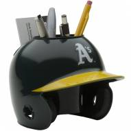 Oakland Athletics Schutt Batting Helmet Desk Caddy