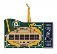 Oakland Athletics Scoreboard Tree Ornament