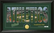 Oakland Athletics Silhouette Bronze Coin Panoramic Photo Mint