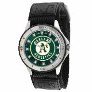 Oakland Athletics Veteran Velcro Mens Watch