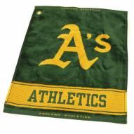 Oakland Athletics Woven Golf Towel