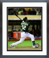 Oakland Athletics Yoenis Cespedes 2014 Action Framed Photo