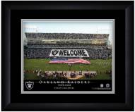 Oakland Raiders 13 x 16 Personalized Framed Stadium Print
