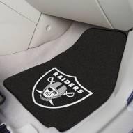 Oakland Raiders 2-Piece Carpet Car Mats