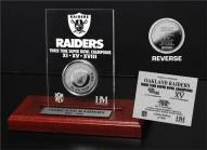 Oakland Raiders 3x Super Bowl Champions Etched Acrylic